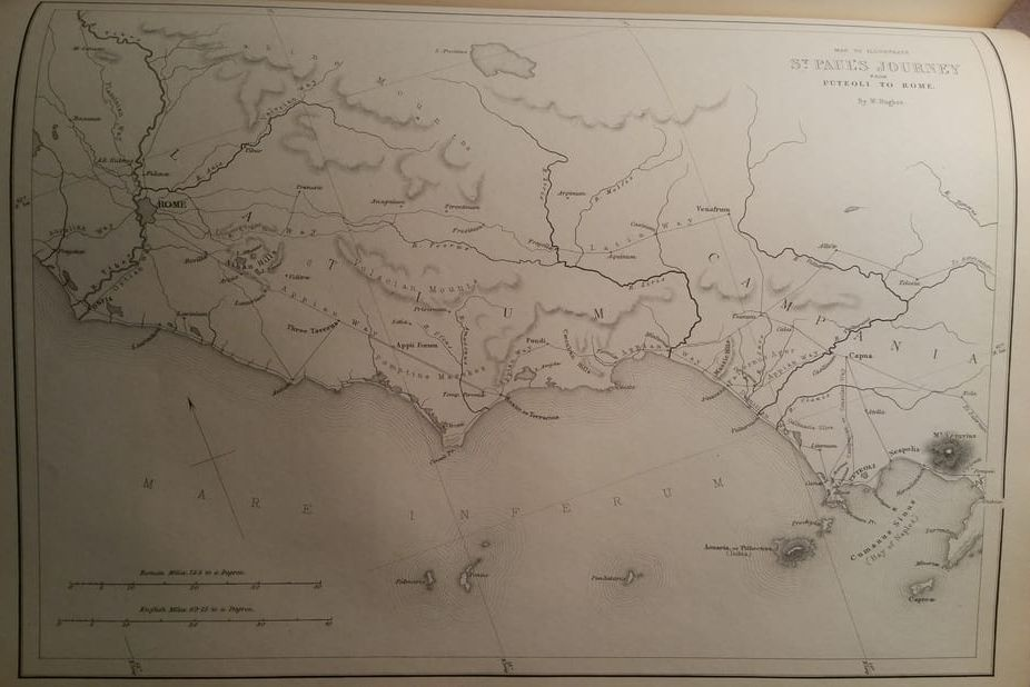 Map of Paul's escort from Puteoli to Rome