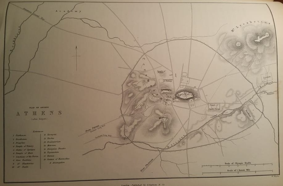 Map of Ancient Anthens