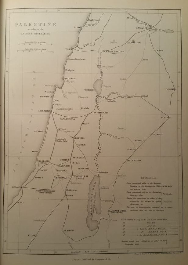 Map of Ancient Palestine