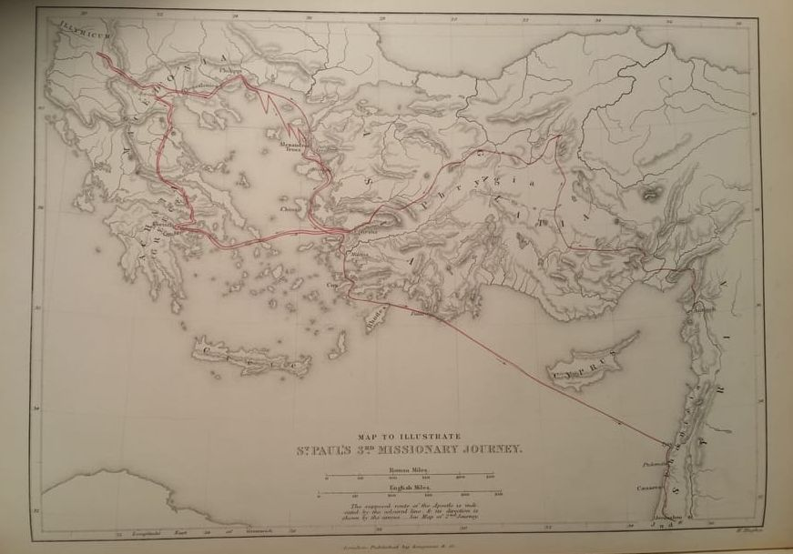 Map of Paul's 3rd Journey